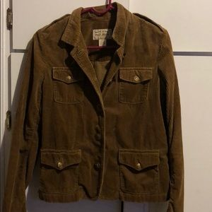 Corduroy polo jacket